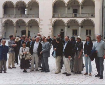 Participants of Symposium on the court of Wawel - defensive Royal Castle,